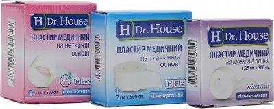 Набор пластырей H Dr. House Тканевый 2 см х 5 м + Шелковый 1.25 см х 5 м + Нетканый 5 см х 5 м (4823905173053)