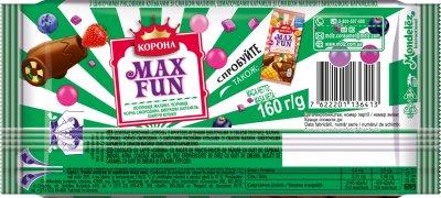 Шоколад Корона Макс Фан молочный ягодный микс 160 г (7622201136413)