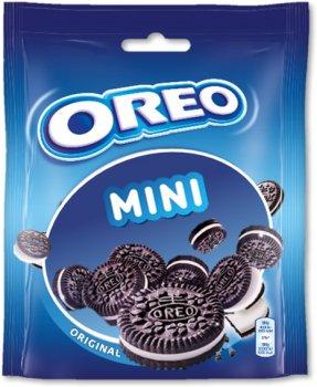 Упаковка печенья Oreo Mini с какао и начинкой ванильного вкуса 100 г х 8 шт (7622201454500)