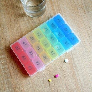 Органайзер для таблеток MVM, 7 дней PC-03 T пластиковый прозрачный