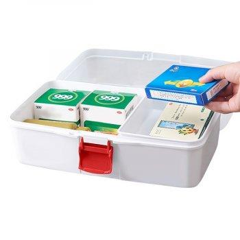 Органайзер-аптечка для лекарств MVM PC-10 пластиковый белый