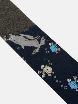 Колготки De Melatti 2023 86-92 см Темно-сірі з темно-синім (2400000153528)