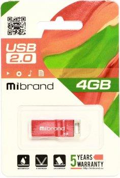 Mibrand Сhameleon 4GB USB 2.0 Red (MI2.0/CH4U6R)