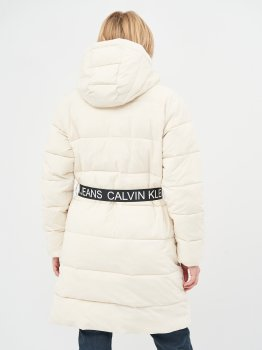 Куртка Calvin Klein Jeans Waisted Logo Long Puffer J20J214855-AEO Soft Cream/Bright White