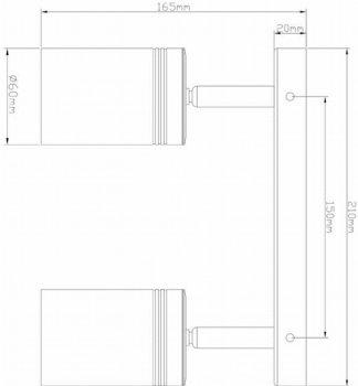 Спотовий світильник Ultralight TRL111 2x10 W чорний (UL-51527)