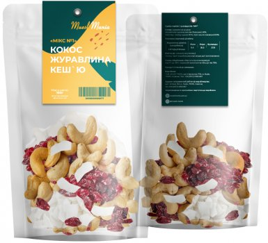 Суміш горіхів і сухофруктів Muesli Mania №1 100 г (2048129071998)