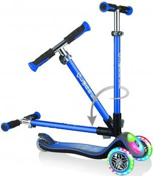 Самокат Globber серії Elite синій колеса та панель з підсвіткою до 50 кг 3+ 3 колеса (449-100-3)