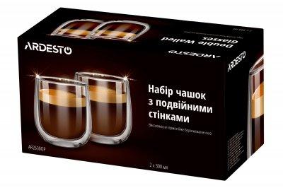 Набор чашек Ardesto с двойными стенками 300 мл 2 шт (AR2630GP)