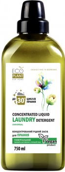Концентрированное средство для стирки EcoPlant for Home Universal 750 мл (4820168432972)