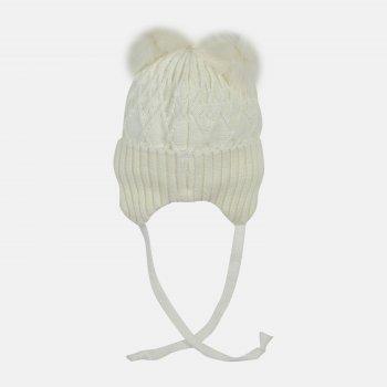 Зимняя шапка с завязками Elf-kids Долорес 44 см Молоко (ROZ6400026575)