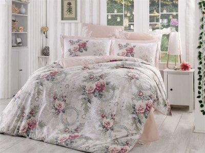 Комплект постільної білизни Hobby Flannel Clementina Світло-рожевий 200х220 (8698499140165)