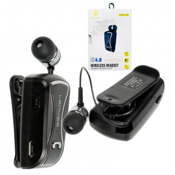 Bluetooth моно-гарнитура Lenyes A20 черно-серебристая