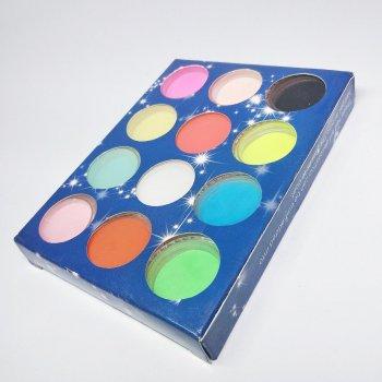 Акрилова пудра кольорова для ліплення на нігтях 12шт