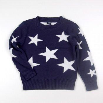 Теплый свитер со звездочками