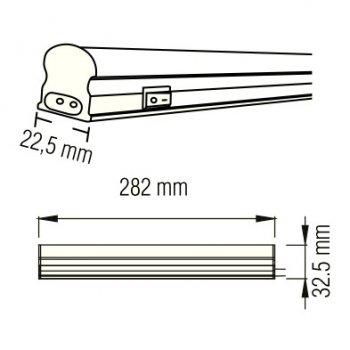 Світильник світлодіодний лінійний настінно-стельовий LED Horoz Electric SIGMA-4 4W 4200K 052-001-0030