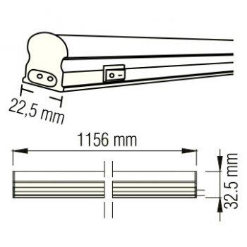 Світильник світлодіодний лінійний настінно-стельовий LED Horoz Electric SIGMA-14 14W 4200K 052-001-0120