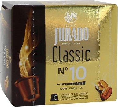 Кава в капсулах Jurado Classic для системи Nespresso 5 г х 10 шт. (8410894004527)