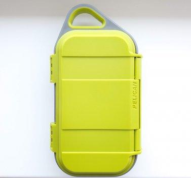 Водонепроницаемый защитный футляр кейс Pelican G40 Personal Utility Go Case Lime/Gray