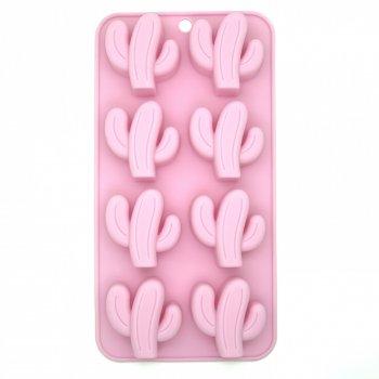 Силіконова форма для льоду і цукерок Кактус (рожевий) Stenson (10110 PI)