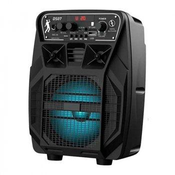 Портативная беспроводная Bluetooth акустическая система HOCO Dancer Outdoor Wireless Speaker DS07 колонка чемодан с микрофоном Black (DS07)