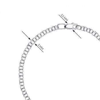 Браслет из серебра в плетении бисмарк, 3 мм 000118123 16 размера
