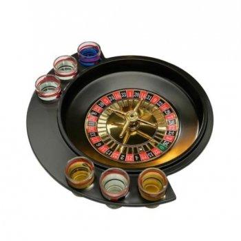 Пьяная алкогольная рулетка на 6 рюмок Roulette GB