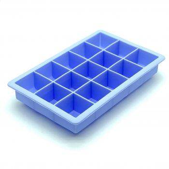 Силиконовая форма для льда и конфет Кубик (голубой) Stenson (10232 LB)