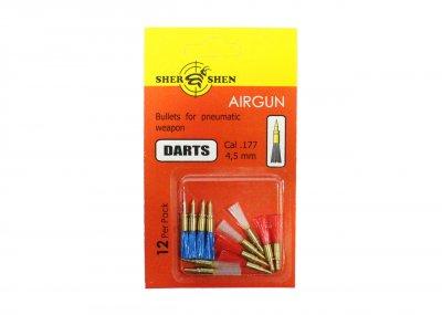 Пули-дротики для пневматики 4.5 мм Шершень Darts 1г по 12 шт/уп.