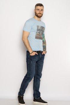 Мужская хлопковая футболка Time of Style 627F013 Голубой