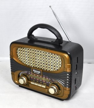Ретро колонка радіоприймач портативний Bluetooth Kemai MD-1903BT