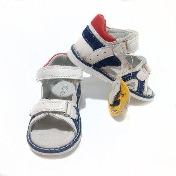 Босоножки кожаные Clibee для малышей арт.LF267 white Белые