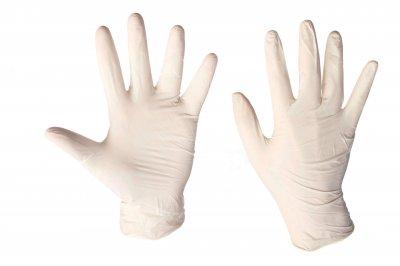 Перчатки латексные опудренные MERCATOR MEDICAL Santex Powdered белые размер L (100 шт)