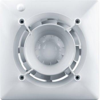 Вентилятор дизайнерский VENTS 100 Эйс DESIGN CONCEPT + Декоративная панель ФП 160х160 Плейн черный сапфир (АБС-пластик)