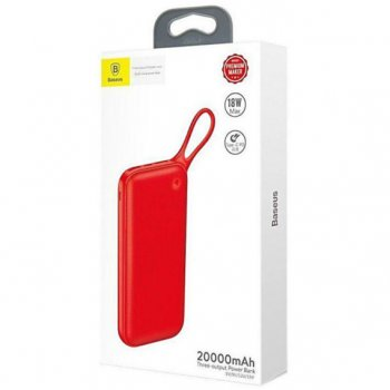 Power Bank Baseus Powerful (PD+QC3.0) (20000mAh) Red (PPKC-A09) (Червоний)