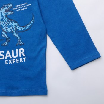 Лонгслив для мальчика Pepco Dino синий