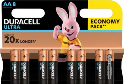 Щелочные батарейки Duracell Ultra Power AA 1.5В LR6 8 шт (5000394063051)