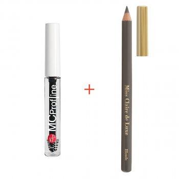 Набір косметики для брів Miss Claire Гель для брів + Пудровий олівець BLONDE
