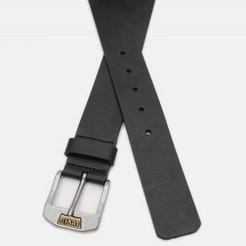 Мужской ремень кожаный Levi's New Legend 219406-3-59 90 см Regular Black (7613267431147)
