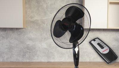 Вентилятор напольный с пультом таймером Ardesto FN-R1608CB 45Вт подсветка автоповорот 1,25 м черный