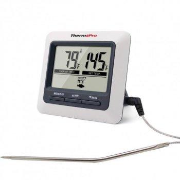 Профессиональный цифровой термометр для мяса с выносным щупом ThermoPro TP-04