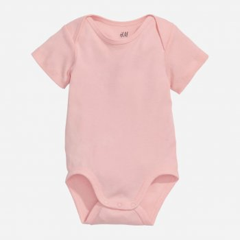Боди-футболка H&M 6340367 80 см Светло-розовый (hm05808076470)