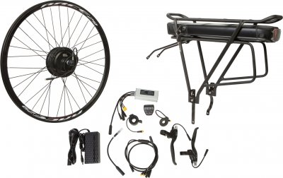 "Електричний велонабір на багажник Velotrade Мотор-колесо 26"" задній редуктор 350 Вт 36 В 12.5 А·год 17 A (ELBK-064)"