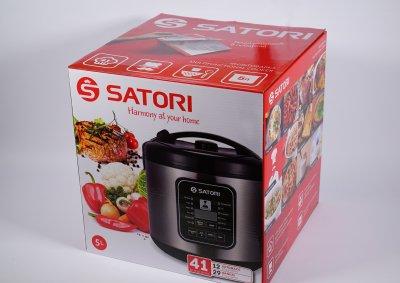 Мультиварка Satori SM-41963-5SL, 900Вт,5л,керам.покр.,скляна кришка,стакани для йогурта,41 прогр.
