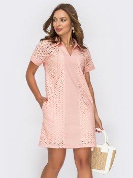 Платье Dressa 53995 Розовое