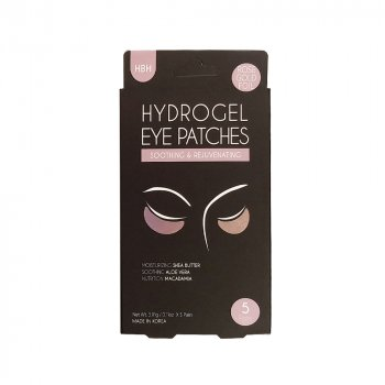 Патчі під очі Hanwoong Luke Hydrogel Eye Pathes Moisturizing & De-Puffing Rose Gold Foil гідрогелеві з фольгованим покриттям рожеве золото 5 пар (8809089292380)