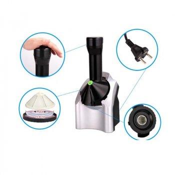 Настільний фризер автоматична домашня морожениця Yonanas HD maker морожениці фризери для приготування м'якого і твердого морозива, коктейлю - Апарат – електрична машина для ice cream сорбетница для дому, Чорний - Сріблястий