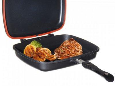 Двухсторонняя сковорода-гиль двойная для гриля и жарки A-PLUS FP-1500 30 см
