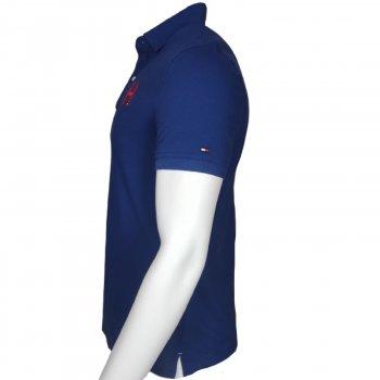 Поло Tommy Hilfiger,с коротким рукавам,с логотипом,синий,78Е9328431