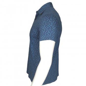 Поло Tommy Hilfiger,с коротким рукавам,с логотипом,голубой,78C8965409