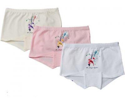 Трусы-шорты для девочек 3шт 5436 Baykar разные цвета